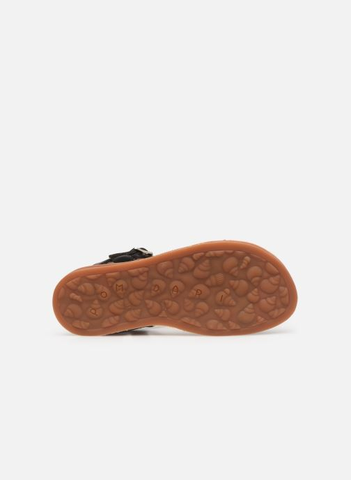 Sandales et nu-pieds Pom d Api Plagette Antik Noir vue haut