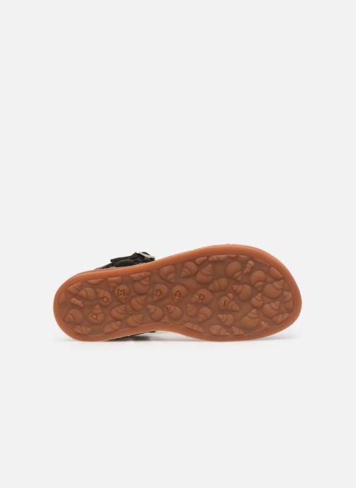 Sandaler Pom d Api Plagette Antik Sort se foroven