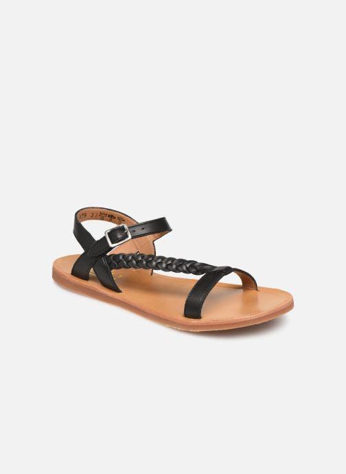Sandaler Pom d Api Plagette Antik Sort detaljeret billede af skoene