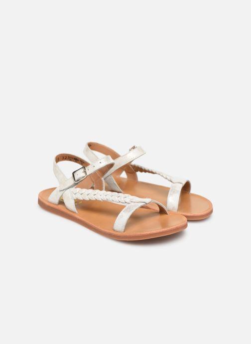 Sandals Pom d Api Plagette Antik Silver 3/4 view