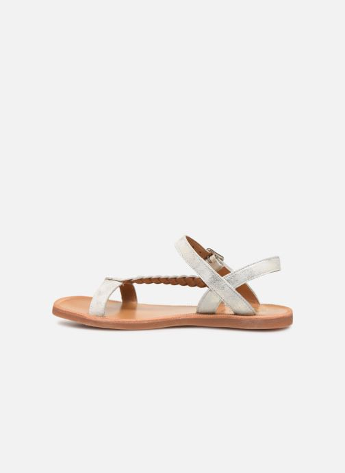 Sandales et nu-pieds Pom d Api Plagette Antik Argent vue face