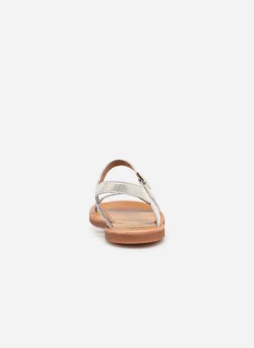 Sandals Pom d Api Plagette Antik Silver view from the right