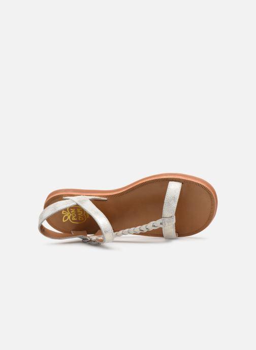 Sandales et nu-pieds Pom d Api Plagette Antik Argent vue gauche