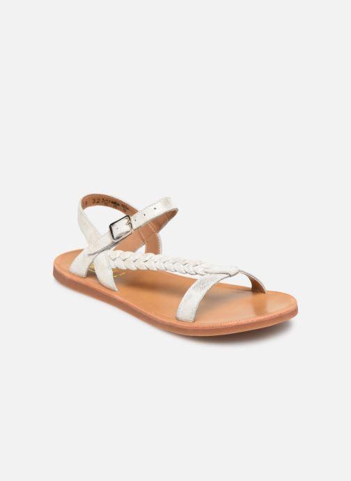 Sandales et nu-pieds Pom d Api Plagette Antik Argent vue détail/paire