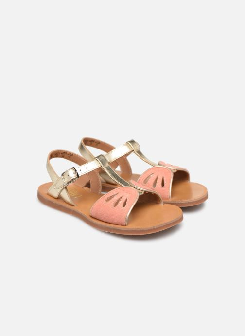 Sandals Pom d Api Plagette Daisy Bronze and Gold 3/4 view