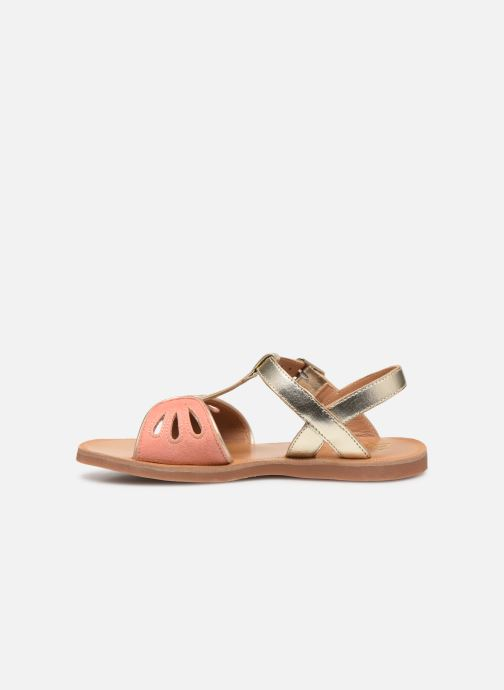 Sandals Pom d Api Plagette Daisy Bronze and Gold front view