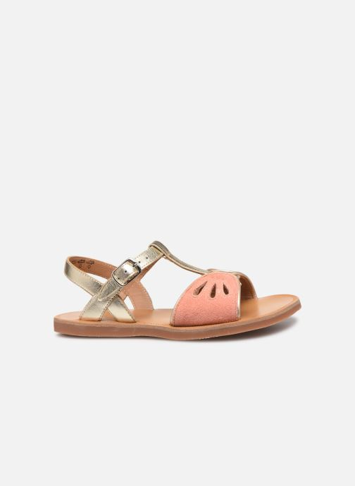 Sandals Pom d Api Plagette Daisy Bronze and Gold back view