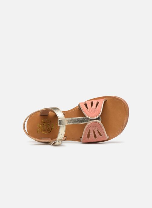 Sandals Pom d Api Plagette Daisy Bronze and Gold view from the left
