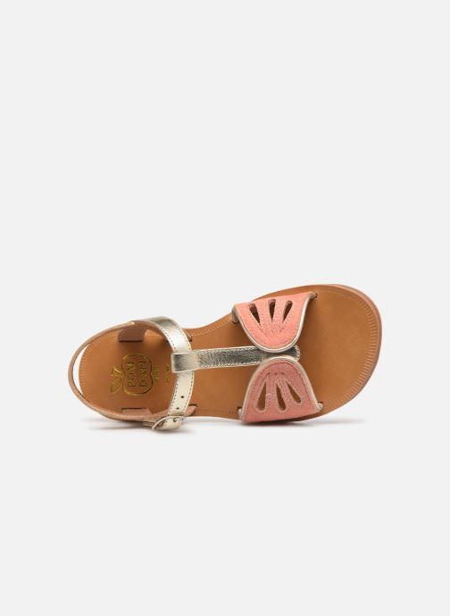 Sandales et nu-pieds Pom d Api Plagette Daisy Or et bronze vue gauche