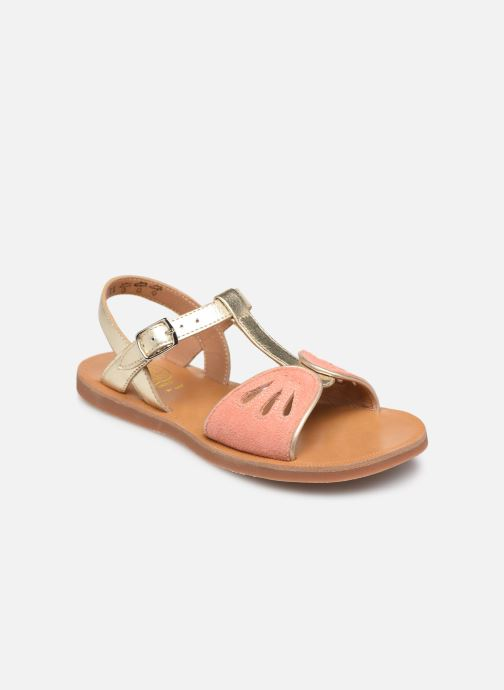 Sandals Pom d Api Plagette Daisy Bronze and Gold detailed view/ Pair view