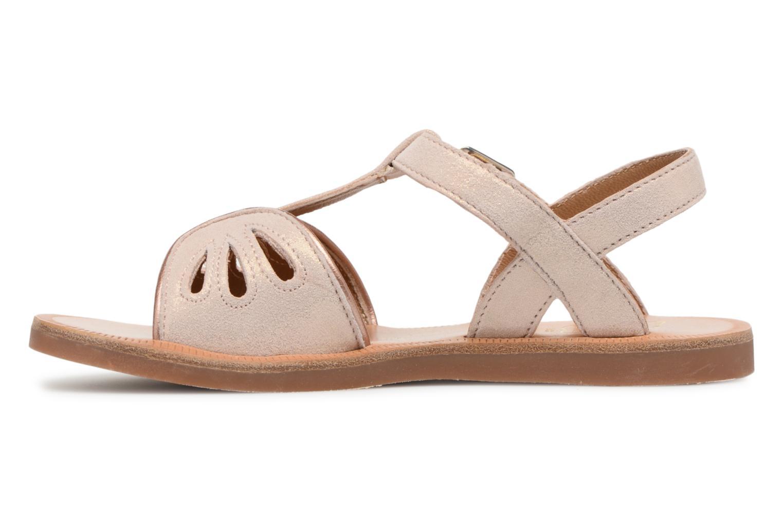 Sandales et nu-pieds Pom d Api Plagette Daisy Rose vue face