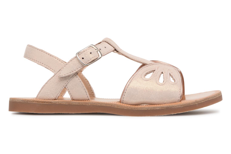 Sandales et nu-pieds Pom d Api Plagette Daisy Rose vue derrière