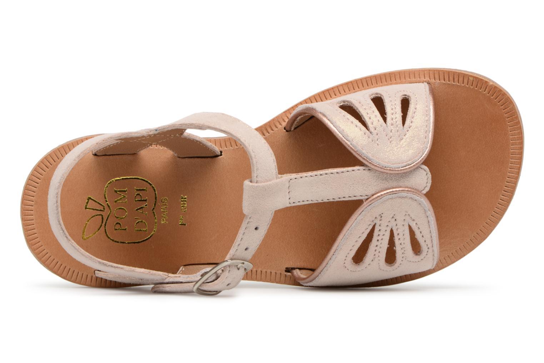 Sandales et nu-pieds Pom d Api Plagette Daisy Rose vue gauche