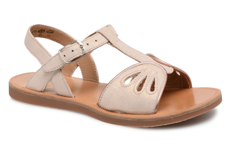 Sandales et nu-pieds Pom d Api Plagette Daisy Rose vue détail/paire