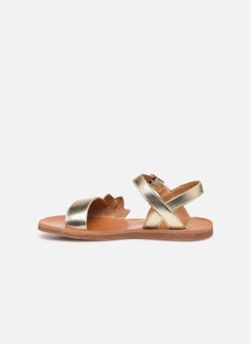 Sandales et nu-pieds Pom d Api Plagette Lotus Bleu vue face