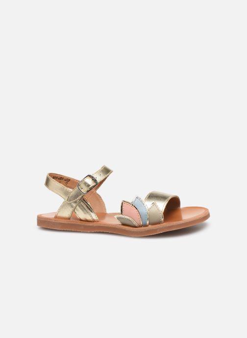 Sandales et nu-pieds Pom d Api Plagette Lotus Bleu vue derrière