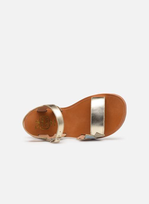 Sandales et nu-pieds Pom d Api Plagette Lotus Bleu vue gauche