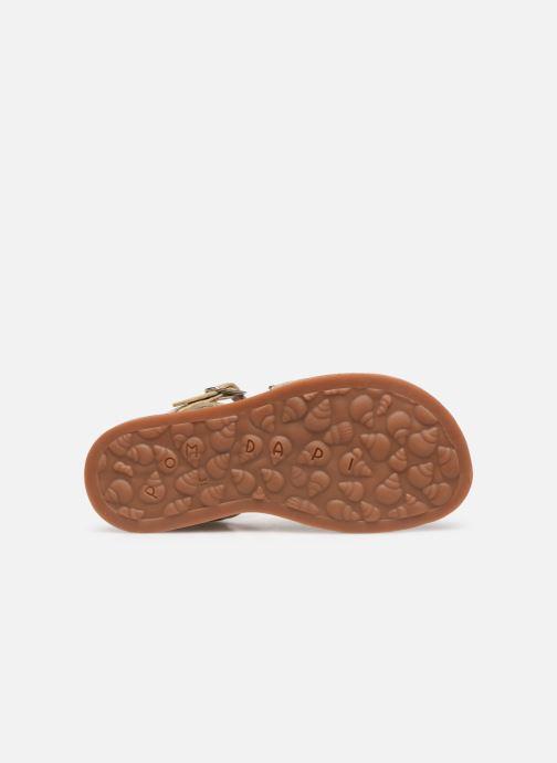 Sandales et nu-pieds Pom d Api Plagette Lotus Bleu vue haut