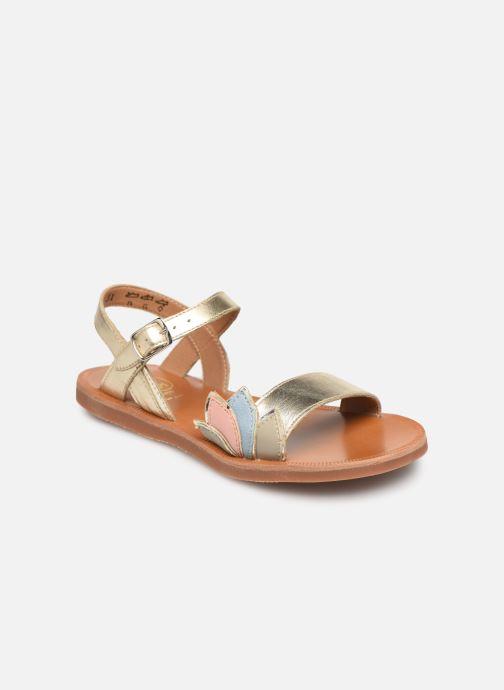 Sandales et nu-pieds Pom d Api Plagette Lotus Bleu vue détail/paire