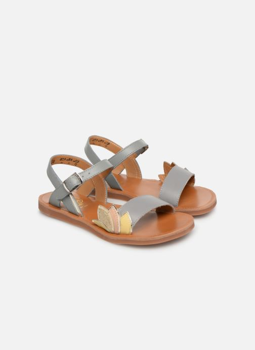 Sandals Pom d Api Plagette Lotus Bronze and Gold 3/4 view