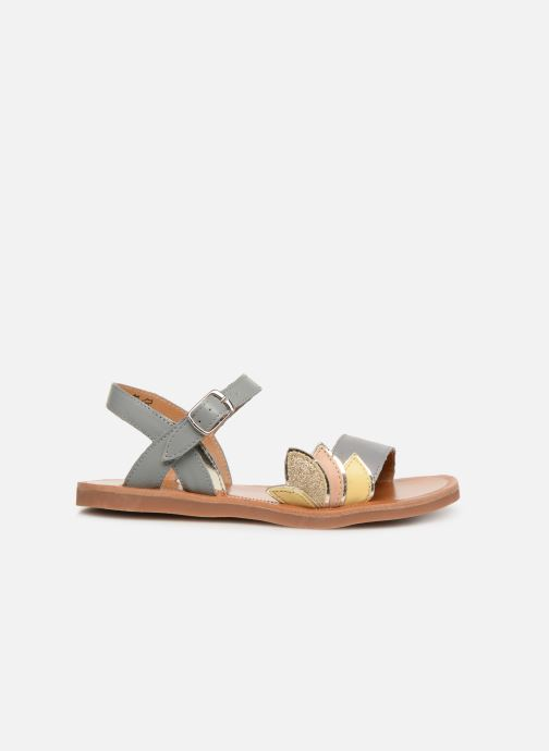 Sandals Pom d Api Plagette Lotus Bronze and Gold back view