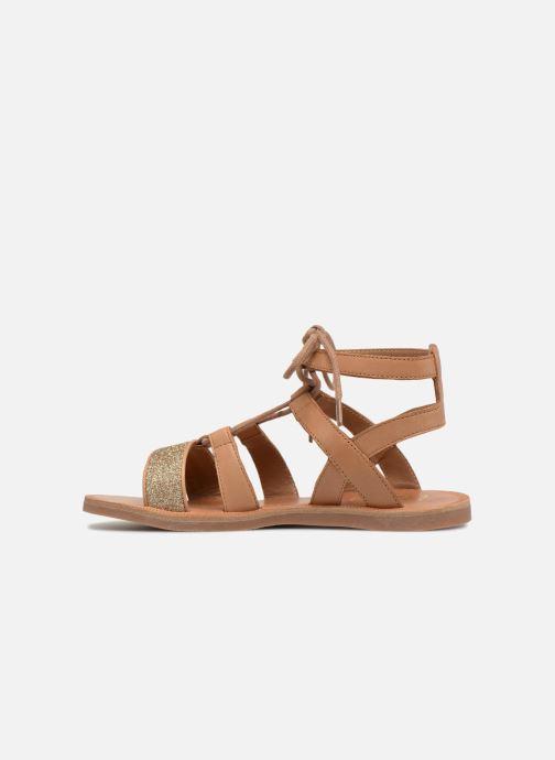 Sandales et nu-pieds Pom d Api Plagette Diana Marron vue face