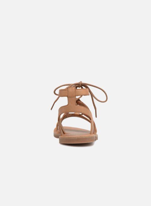 Sandales et nu-pieds Pom d Api Plagette Diana Marron vue droite