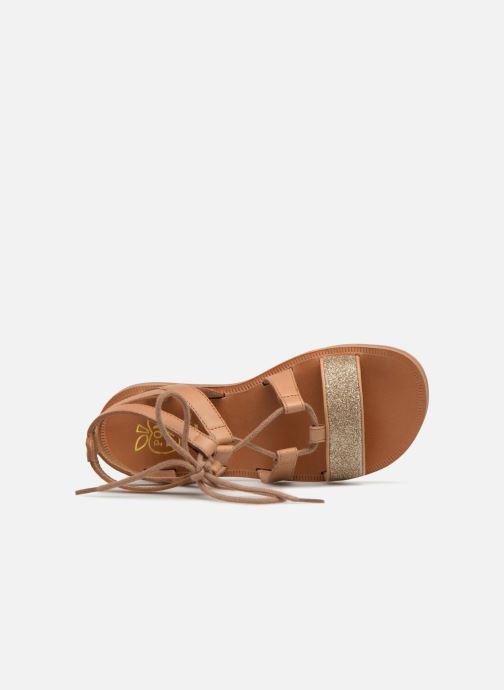 Sandales et nu-pieds Pom d Api Plagette Diana Marron vue gauche