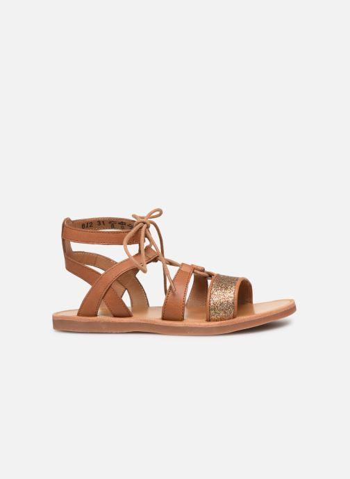 Sandales et nu-pieds Pom d Api Plagette Diana Marron vue derrière