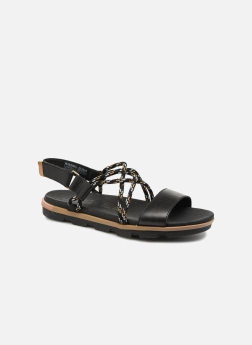 Sandales et nu-pieds Sorel Torpeda Sandal II Noir vue détail/paire