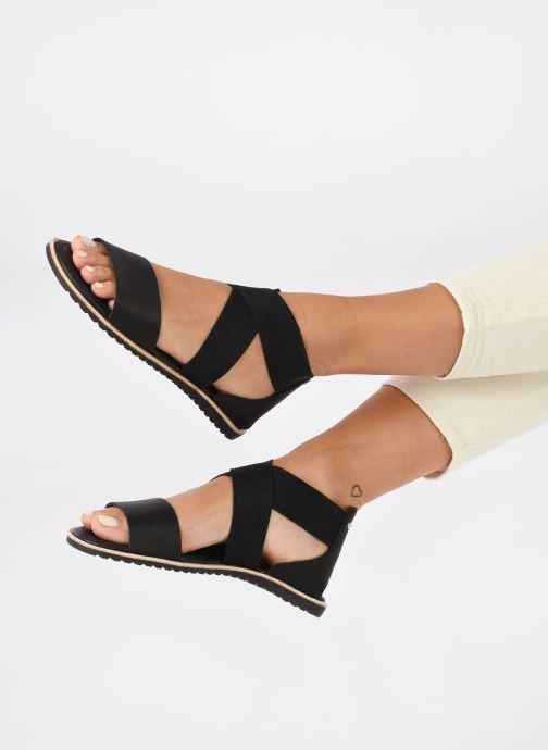 Sandales et nu-pieds Sorel Ella Sandal Noir vue bas / vue portée sac