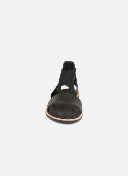 Sandali e scarpe aperte Sorel Ella Sandal Nero modello indossato