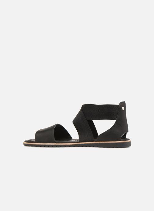 Sandales et nu-pieds Sorel Ella Sandal Noir vue face