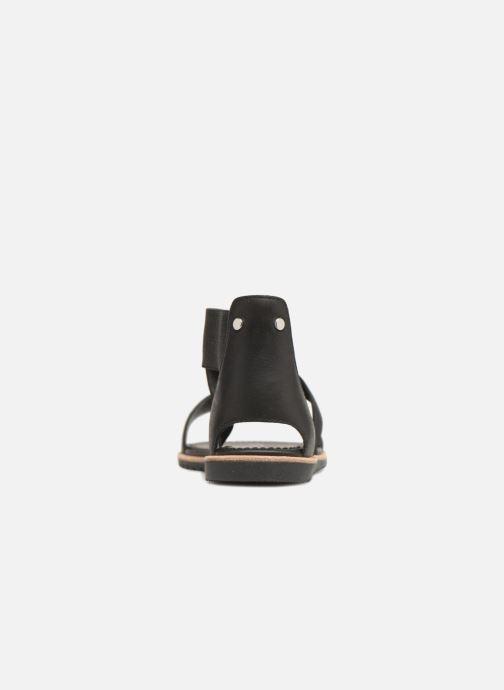 Sandales et nu-pieds Sorel Ella Sandal Noir vue droite