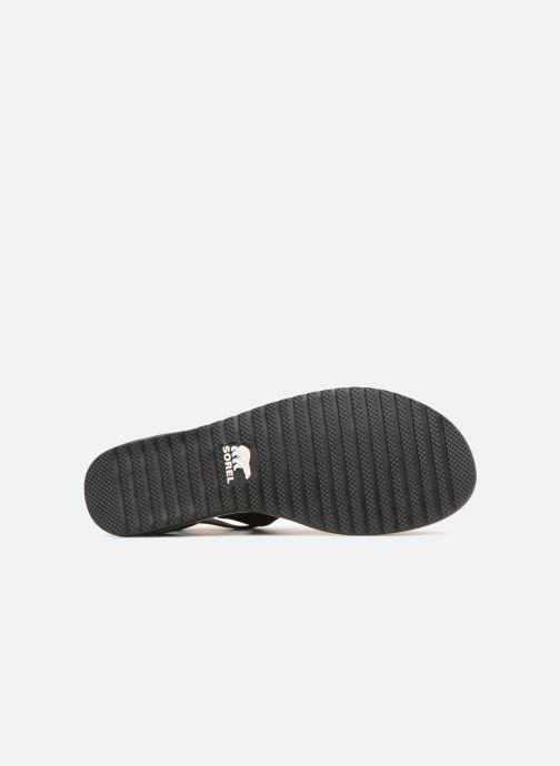 Sandales et nu-pieds Sorel Ella Sandal Noir vue haut