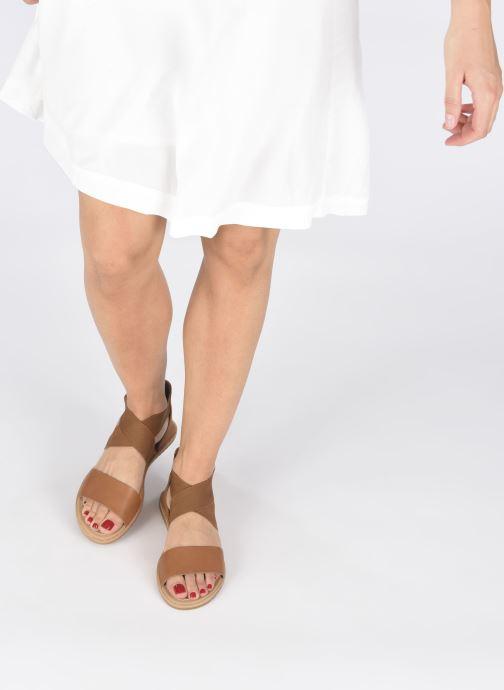 Sandales et nu-pieds Sorel Ella Sandal Marron vue bas / vue portée sac