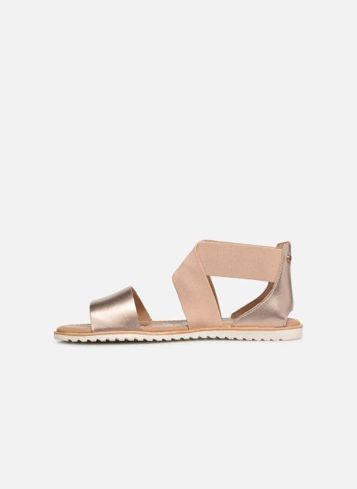 Sandales et nu-pieds Sorel Ella Sandal Or et bronze vue face