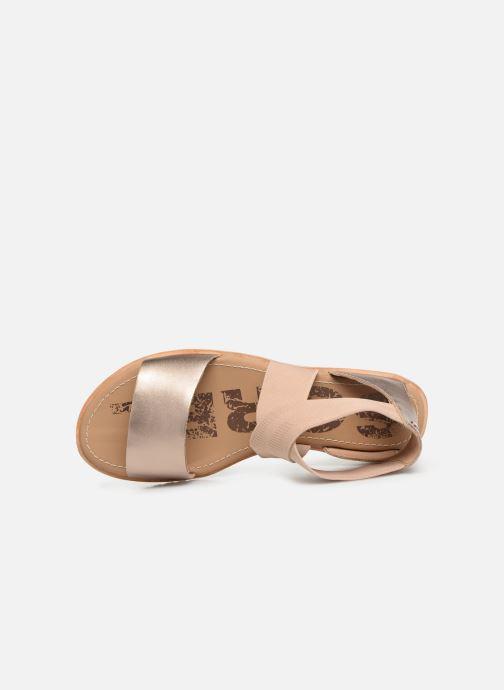 Sandales et nu-pieds Sorel Ella Sandal Or et bronze vue gauche