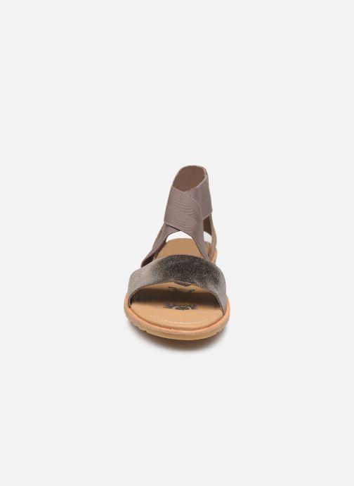 Sandales et nu-pieds Sorel Ella Sandal Gris vue portées chaussures