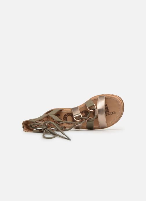 Sandals Sorel Ella Lace Up Green view from the left