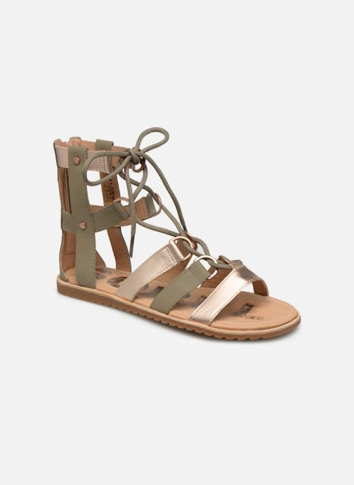 Sandals Sorel Ella Lace Up Green detailed view/ Pair view