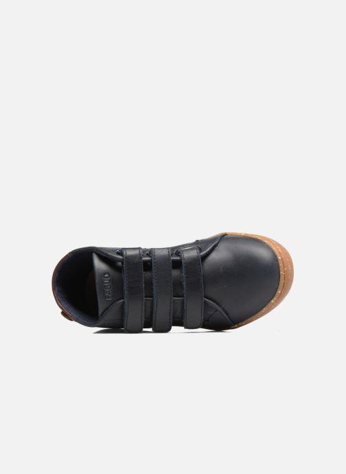 Sneakers Faguo ASPEN VELCRO LEATHER Blauw links