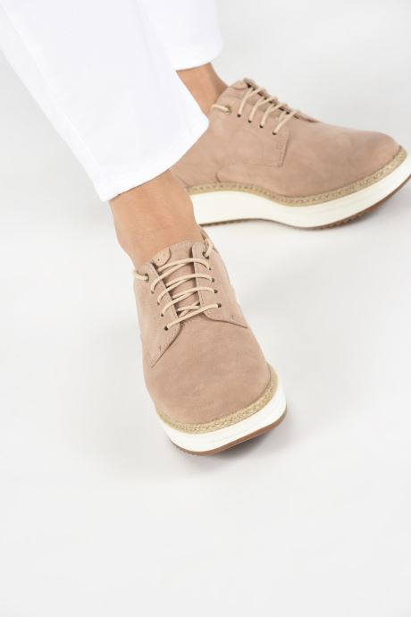 Lace-up shoes Clarks Teadale Rhea Brown view from underneath / model view