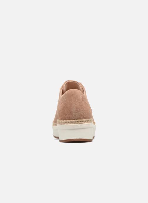 Snörade skor Clarks Teadale Rhea Brun Bild från höger sidan