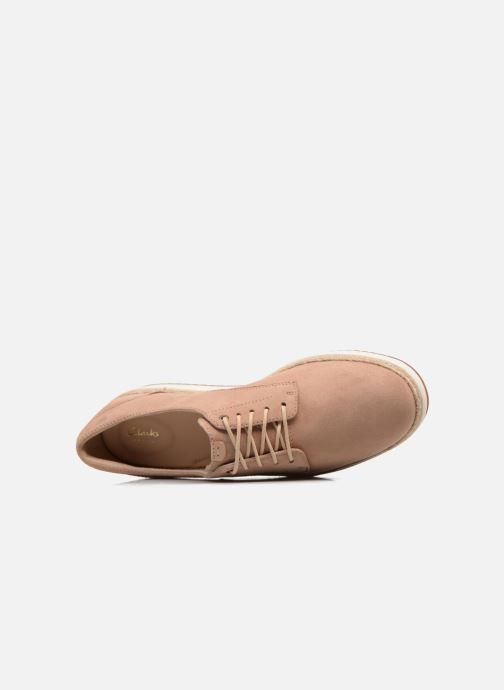 Snörade skor Clarks Teadale Rhea Brun bild från vänster sidan