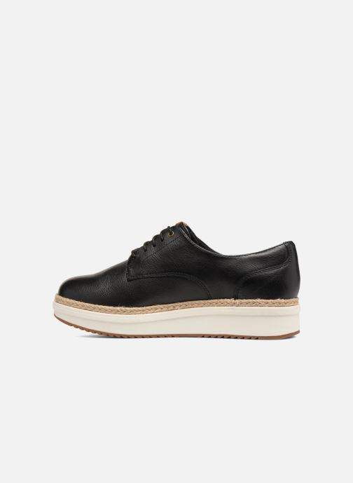 Snörade skor Clarks Teadale Rhea Svart bild från framsidan