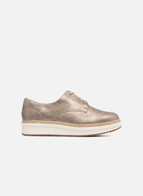 Zapatos con cordones Clarks Teadale Rhea Plateado vistra trasera