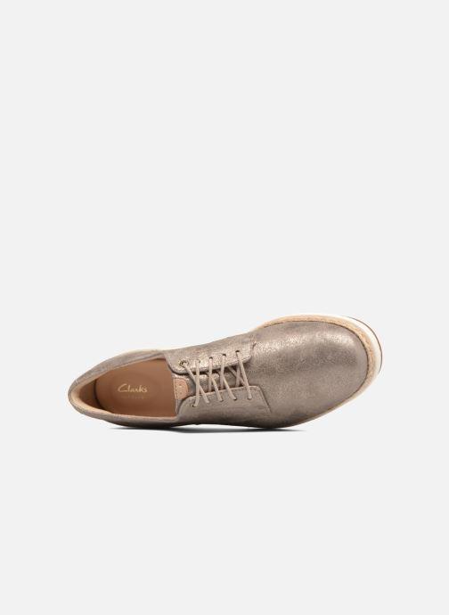 Zapatos con cordones Clarks Teadale Rhea Plateado vista lateral izquierda