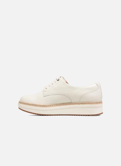 Snörade skor Clarks Teadale Rhea Vit bild från framsidan