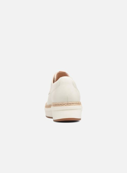 Snörade skor Clarks Teadale Rhea Vit Bild från höger sidan
